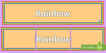 Rainbow Border Display Banner - Rainbow Border Display Banner - colour,rainbow, borders, boardered, display, abnner, display abnner,