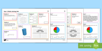 Year 6 Maths Activity Mats - Year 6, maths, mathematics, numeracy, activity mats, fast finisher, problem solving, addition, subtr