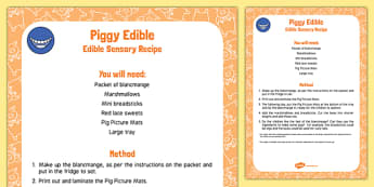 Piggy Edible Sensory Recipe
