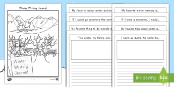 Winter Writing Activity Booklet - Writing Prompts, work on writing, daily five, writer's workshop, recount, template, writing frame,