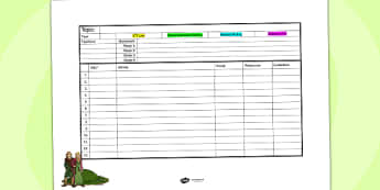 Anglo Saxon Themed Mid Term Planning Template - history, plan