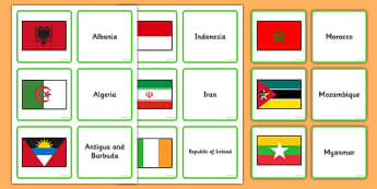 Flags of the World Matching Activity - flags, world, flags of the world, match, matching, activity