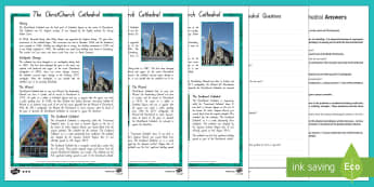 The ChristChurch Cathedral Differentiated Reading Comprehension Activity