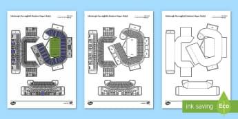 Edinburgh Murrayfield Stadium Paper Model - Paper craft, Scotland, Scottish, landmarks, folding, arts and crafts,Scottish