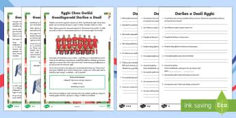 Darllen a Deall Gwahaniaethol Rygbi Chwe Gwlad - WLW Six Nations Differentiated Comprehension - Welsh Language Resource,Welsh