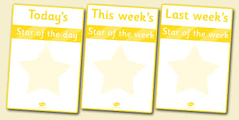 Star of the Week Poster - star of the week, poster, sign, banner, display, award, reward, well done, star, week