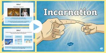 KS2 Incarnation PowerPoint - jesus, God, holy spirit, trinity, christian, hindu, miracles of jesus, christmas, nativity