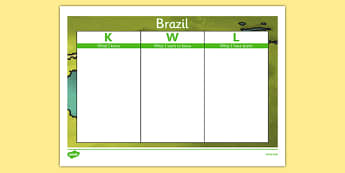 Brazil Topic KWL Grid - brazil, topic, kwl grid, kwl, grid, countries, country
