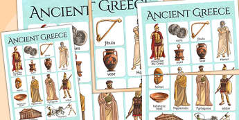 Ancient Greece Vocabulary Mat - ancient greece, visual aid, greek