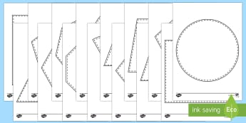 2D Shape Window Activity Sheet - Beginning to use mathematical names for  'flat' 2D shapes, and mathematical terms to describe sh