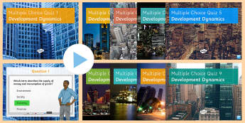 Development Dynamics: Multiple Choice Quiz Activity Pack - ks4, test, assessment, gossary, key , terms, gcse
