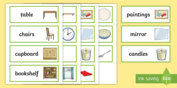 Dining Room Word Cards - Bedroom Word Cards, bedroom, Word cards, flashcards, special needs, home, communication, key words,