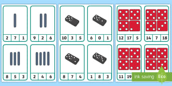 Finger Counting to 10 with Dominoes, Dice and Tally Marks Peg Number Cards - Counting to 10 with Dominoes, Dice and Tally Marks Peg Number Cards - counting to 10, counting with