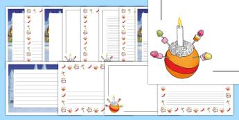 Christingle Page Border Pack - advent sunday, church, christmas, ks2, oranges