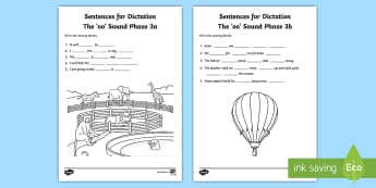Northern Ireland Linguistic Phonics Stage 5 and 6, Phase 3a and 3b, 'oo' Dictation Sentences Activity - Linguistic Phonics, Stage 5, Stage 6, Phase 3a, Stage 3b, Northern Ireland, sentences, dictation, wo