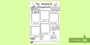 My Weekend Snapshots Writing Frames
