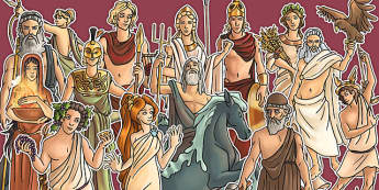 Greek Gods Large Display Cut Out Pack - greek gods, display