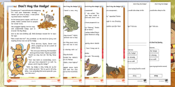Don't Hog the Hedge! Differentiated Reading Comprehension Activity - Twinkl Originals, Fiction, Autumn, Hiberate, Woodland, Animals, KS1, Guided Reading, Inference, dedu