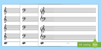 Blank Stave Sheets - blank, stave, sheets, music, compose, write