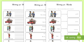 Writing un- Words Differentiated Worksheet / Activity Sheets - writing, un, prefix, differentiated, worksheet / activity sheets, worksheet