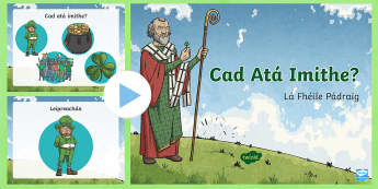 St. Patrick's Day 'Which One Is Missing?' PowerPoint Gaeilge - Saint Patrick's Day, Seachtain na Gaeilge, cluiche Kim, Lá Fhéile Pádraig, memory Game,Irish