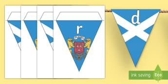 Aberdeen Display Bunting - CfE Social Media Requests, Aberdeen, Scotland, Scottish cities, bunting, display,Scottish