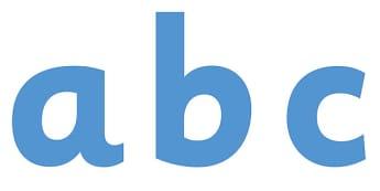 Display Lettering & Symbols (Blue) - Display lettering, display letters, alphabet display, letters to cut out, letters for displays, coloured letters, coloured display, coloured alphabet
