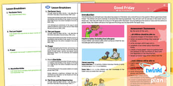 RE: Good Friday  Year 3 CfE Planning Overview