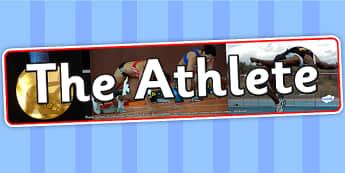 The Athlete Photo Display Banner - athlete, IPC display banner, IPC, athlete display banner, IPC display, athlete IPC banner