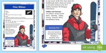 Finn Bilous - New Zealand Winter Olympian Fact File - Olympics, New Zealand, South Korea, Winter, Sporting Events