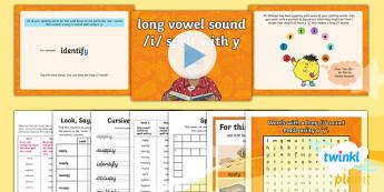 PlanIt Y5 Term 1A W4: Long /i/ spelt using y Spelling Pack