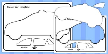 Police Car Template - police car, template, police, car, help