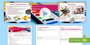 GCSE Art Exam: Starting Points Lesson Pack - AQA, Art, GCSE, Exam, Starting Point, Analysis, Evaluation.
