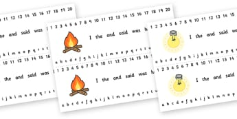 Number and Alphabet Strips (Light and Dark) - Alphabet, Numbers, Light and Dark, Day and Night, Learning letters, Writing aid, Writing Area, Counting, Numberline, Number line, Counting on, Counting back, A4, display, science, day, night, shadow, refl