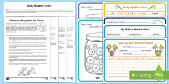 Behaviour Charts Resource Pack - morning, routine, organisation, help, advice, support, behaviour