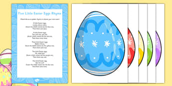 5 Little Easter Eggs Rhyme - Easter, song, rhyme, easter eggs, 5 little easter eggs