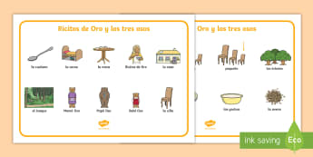 Goldilocks and the Three Bears Word Mat Spanish - Word Mat, fairy tales, porridge, bed, chair, keywords, activity mat, spelling,