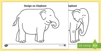 Design an Elephant Activity Sheets - EYFS, Early Years, KS1, Elmer, David McKee, colour, Holi, worksheets,