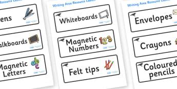 Blackbird Themed Editable Writing Area Resource Labels - Themed writing resource labels, literacy area labels, writing area resources, Label template, Resource Label, Name Labels, Editable Labels, Drawer Labels, KS1 Labels, Foundation Labels, Foundat