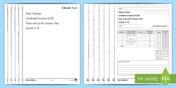 GCSE Edexcel-Style Combined Science (Chemistry) Test: Fuels and Earth Science  - Fuel, Cracking, Fractional Distillation, Alkane, Alkene, Homologous Series, Carbon, Biofuel