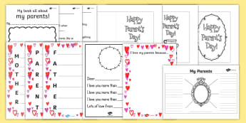Parents' Day Activity Pack - top ten, resource pack, mothers day, father's day, parent's parents