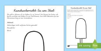 Eis am Stiel Arbeitsblatt: Lesen und Malen - Sommer, Jahreszeiten, Eis am Stiel, Kunstunterricht, malen, Farben, Kl.1/2, summer, seasons, ice lol