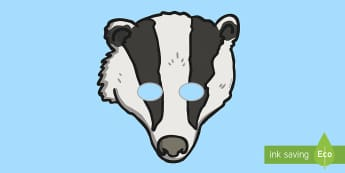 Badger Role-Play Mask - Animal Mask, Character, Imaginative play, Play, Fun, Learning, Mammal
