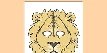 Lion Role Play Mask - lion, story, role-play, mask, role play mask, lion story