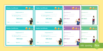Maths 'Assessment Objectives' Certificates - Rewards, Learning, Positive, Praise, Award, Certificate, Recognition, a01, a02, a03