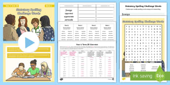 Year 6 Term 2B Week 6 Spelling Pack - Spelling Lists, Word Lists, Spring Term, List Pack, SPaG, spelling homework