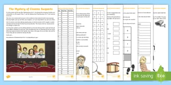 UKS2 The Mystery of the Cinema Suspects Maths Game - murder mystery, decimals, multiplication, reflection, sodoku