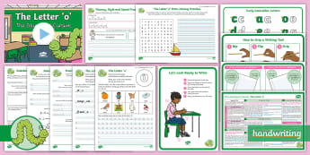The Journey to Cursive: The Letter 'o' (Curly Caterpillar Family Help Card 9) KS1 Activity Pack - handwriting, Nelson handwriting, penpals, fluent, joined, legible, letterjoin,