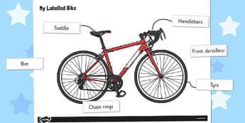 Label a Bike Worksheet / Activity Sheet - label, bike, worksheet / activity sheet, sheet, worksheet