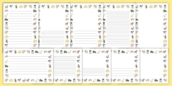 Farm Page Borders - Farm, Page border, border,  KS1, writing Borders, shop, farm, pig, cow, chicken, goat, tractor, farmer, chicken, goat, sheep, hay, milk, eggs